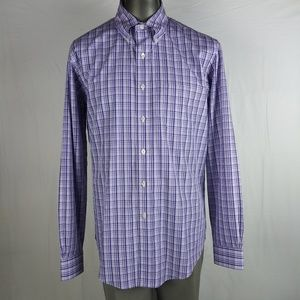 Brooks Brothers Men Large Long Sleeve Plaid Shirt